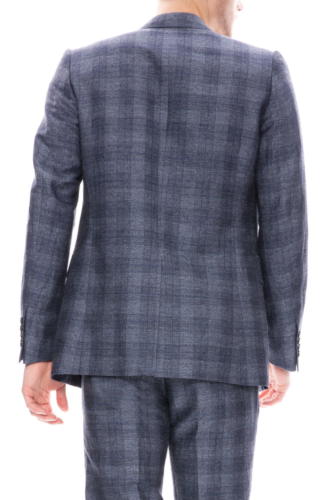 Tonal Plaid Suit Jacket