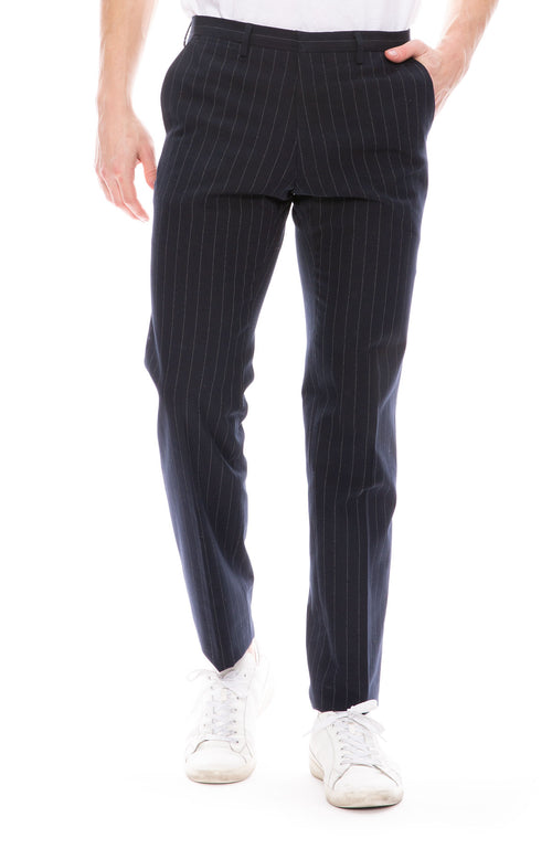 Striped Slim Suit Pant