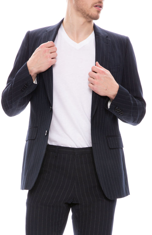 Striped Slim Suit Jacket