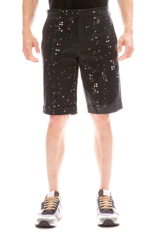MX Paris by Maxime Simoens Building Lights Shorts in Ash Black