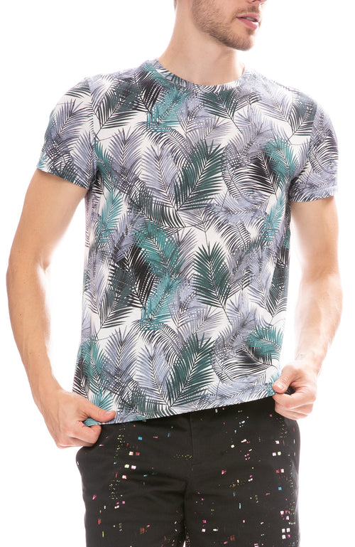 MX Paris by Maxime Simoens Palm T-Shirt in Water Green