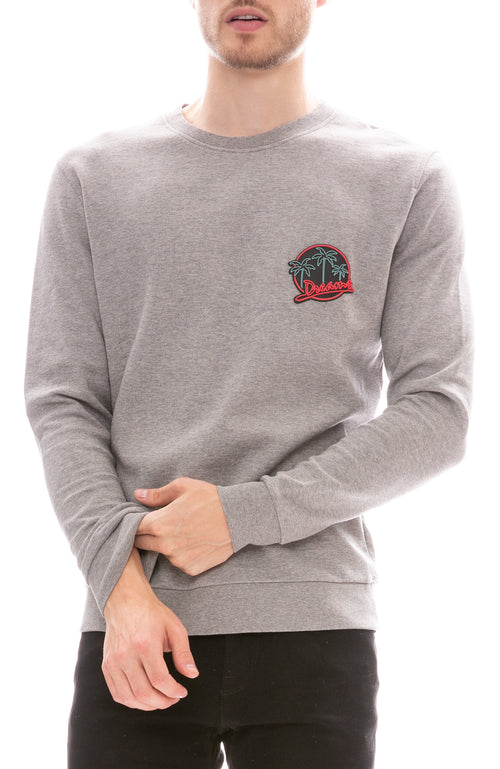 MX Paris by Maxime Simoens Dreams Patch Sweatshirt in Smoke Grey