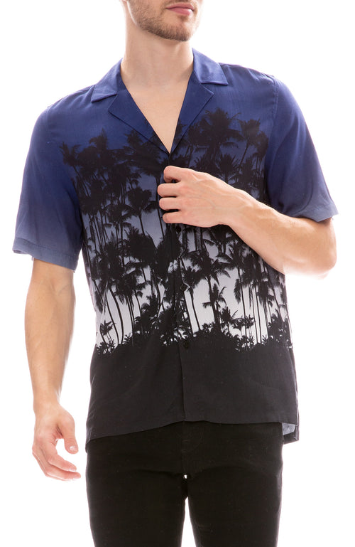 MX Paris by Maxime Simoens Palm Beach Shirt in Ocean Blue