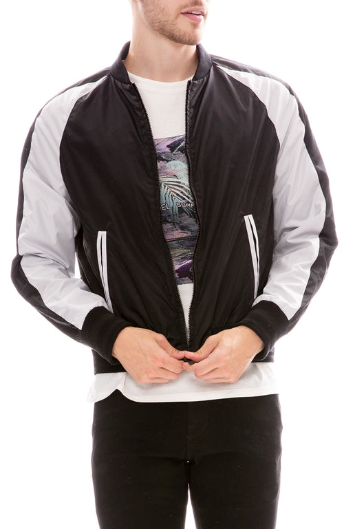 Technical Satin Bomber Jacket