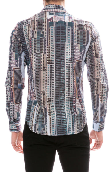 MX Paris by Maxime Simoens Building Print Shirt
