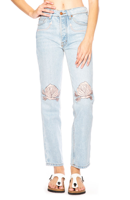 Song of the West Embroidered Vintage Denim