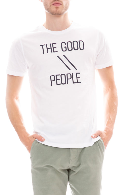 The GoodPeople Front Row Embroidered Shirt in White