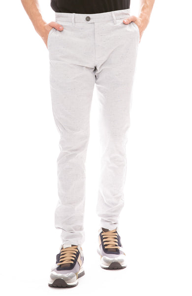 The GoodPeople Ginky Slim Fit Pant in Light Grey Melange