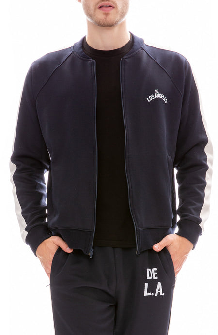 Runner Letterman Stripe Zip Up