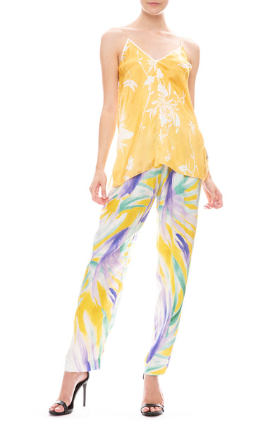 Forte Forte Panarea Print Satin Belted Pants with Silk Camisole