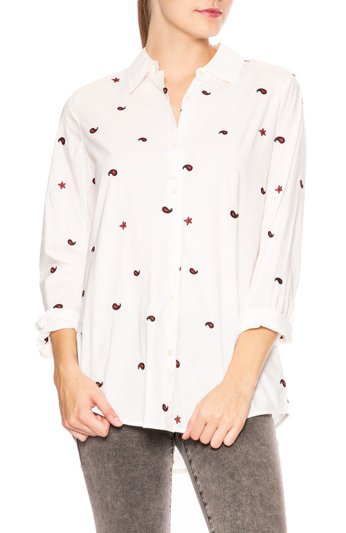 Patched Button Down Shirt