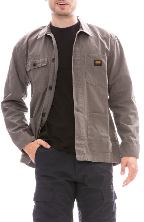 Carhartt WIP Michigan Shacket in Air Force Grey