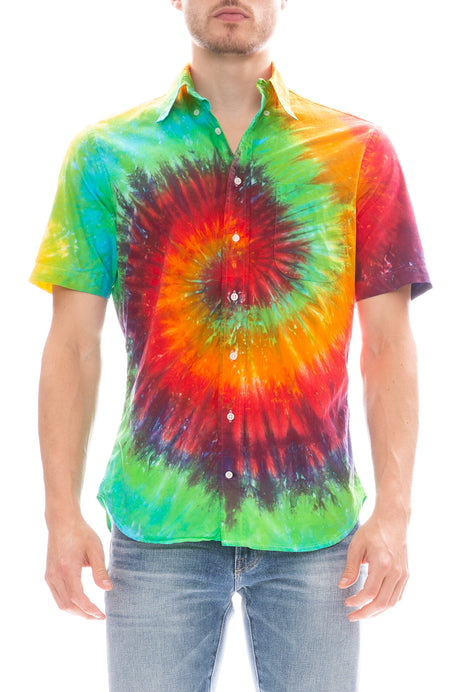 Tie Dye Button Down