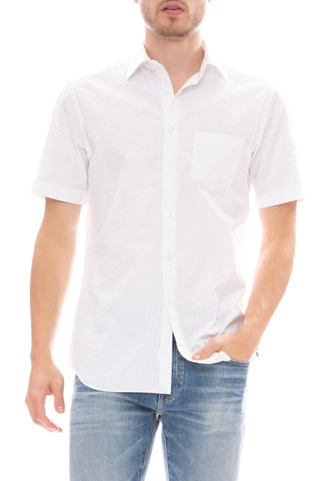 Seersucker Button Down Shirt