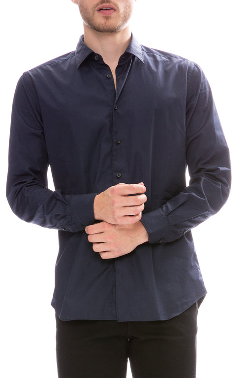 Today Is Beautiful / Ron Herman Exclusive Poplin Button Down Shirt in Navy