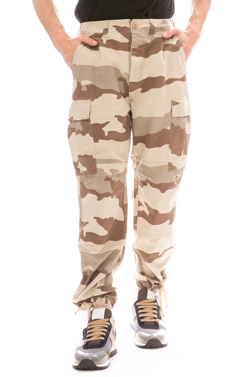 Stussy Camo Cargo Pants in Tan