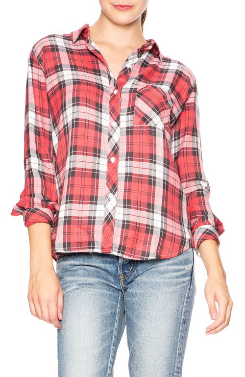 Rails Hunter Button Down Shirt in Scarlet Ash Plaid at Ron Herman