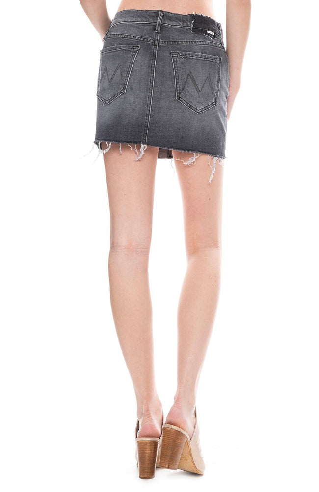 Vagabond Frayed Mini Skirt in Pedal to the Medal
