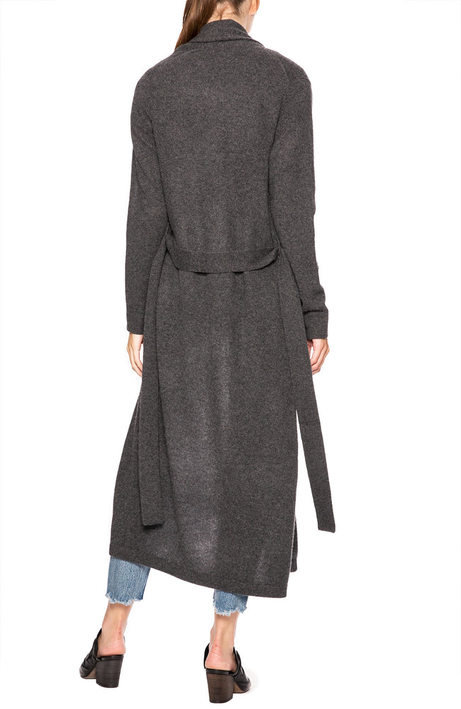 White + Warren Lux Cashmere Robe in Charcoal at Ron Herman
