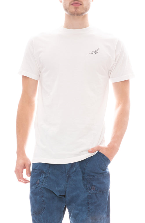 Freedom Artists Embroidered Flight T-Shirt in Vintage White