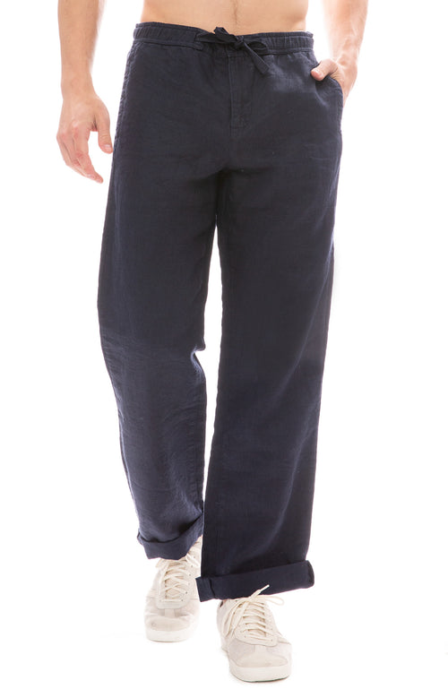 Orlebar Brown Stoneleigh Linen Pant in Navy