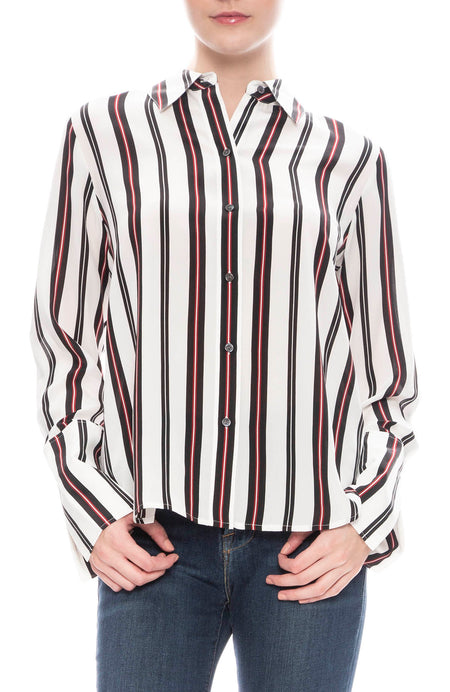 Striped Slit Cuff Shirt