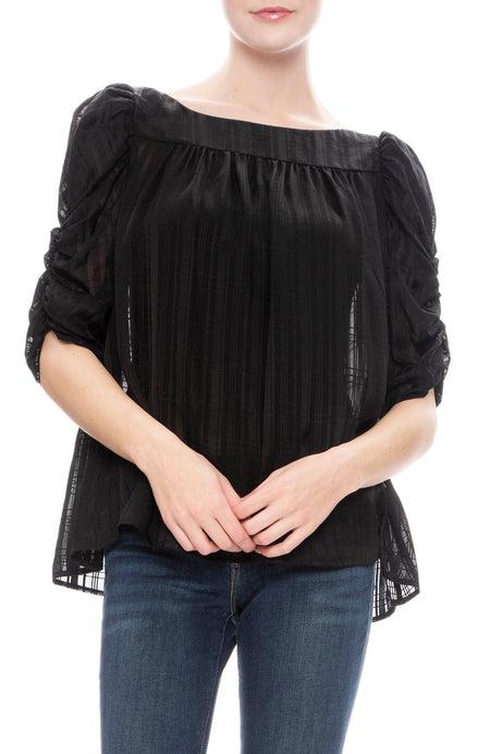 Kate Shirred Sleeve Top