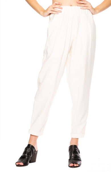 Black Crane Carpenter Pants in Cream at Ron Herman