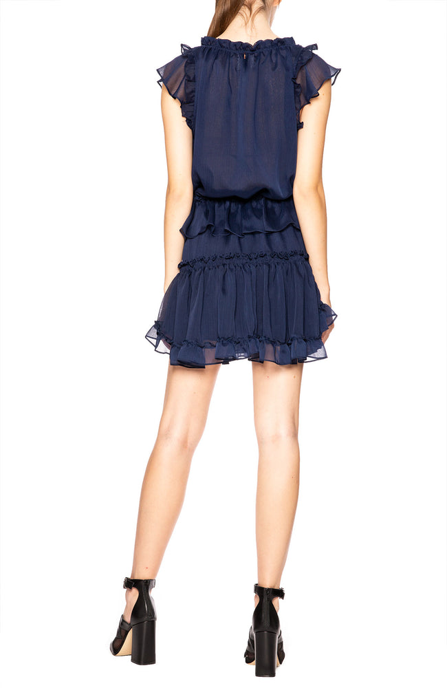 Misa Los Angeles Albella Dress in Navy at Ron Herman