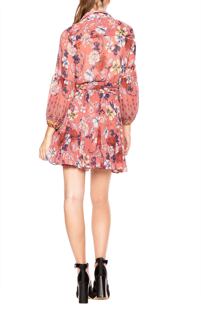 Misa Los Angeles Pink Print Serena Mini Dress at Ron Herman