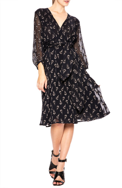 BA&SH Memory Dress in Black at Ron Herman