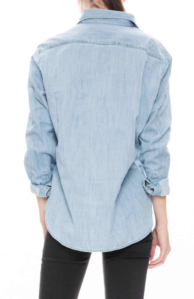 Frank & Eileen Womens Stonewashed Denim Eileen Shirt