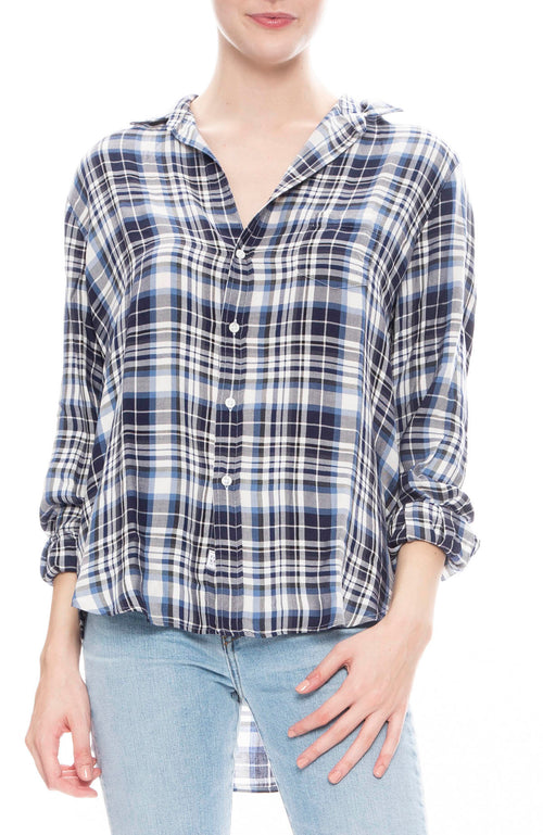 Frank & Eileen Womens Modal Plaid Eileen Button Down Shirt