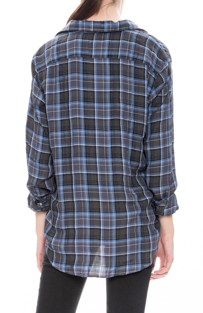 Frank & Eileen Womens Modal Eileen Shirt in Blue and Black Plaid