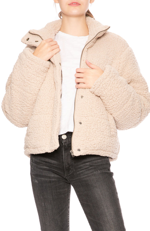 Native Youth Clayton Puffer Jacket in Oatmeal at Ron Herman
