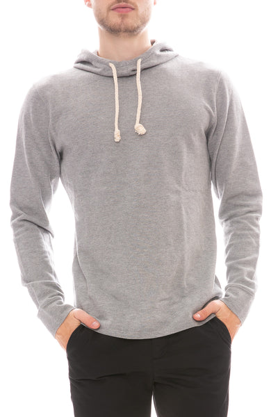 Life After Denim Heather Pique Hoodie in Heather Grey