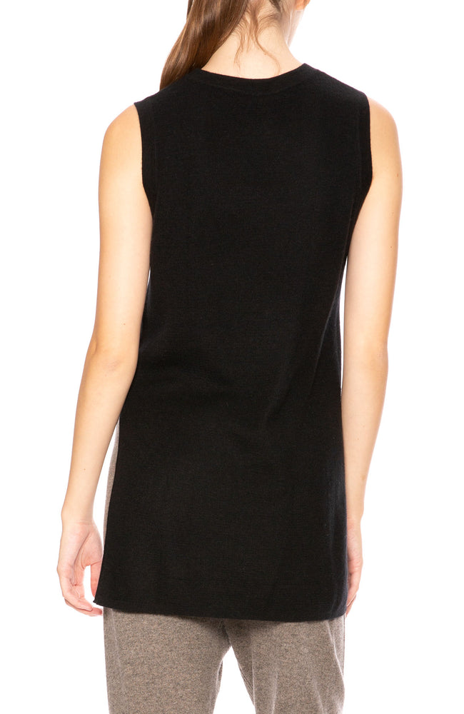 Soyer Stella Cashmere Ribbed Sleeveless Top in Black at Ron Herman