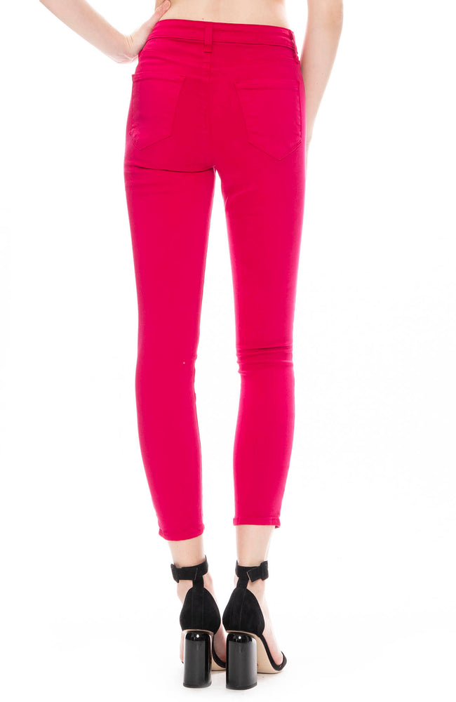 L'Agence Margot High Rise Skinny Jean in Magenta