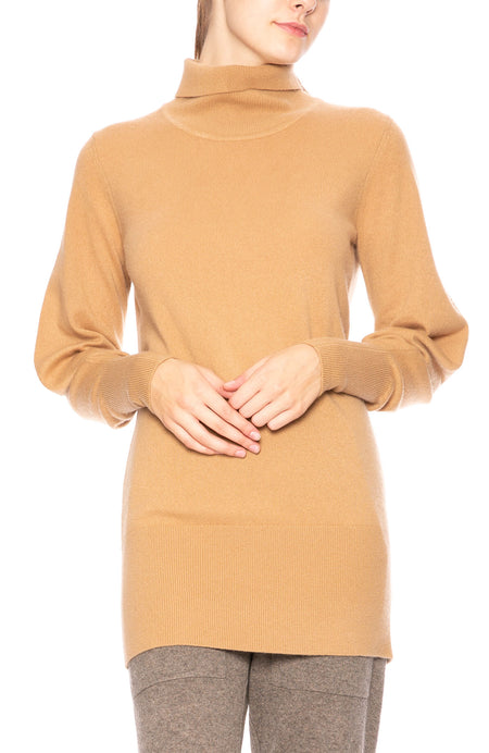 Victoria Cashmere Turtleneck Sweater