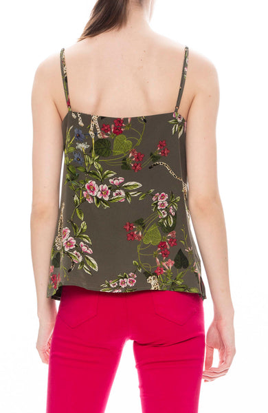 L'Agence Jane Floral Cami in French Moss
