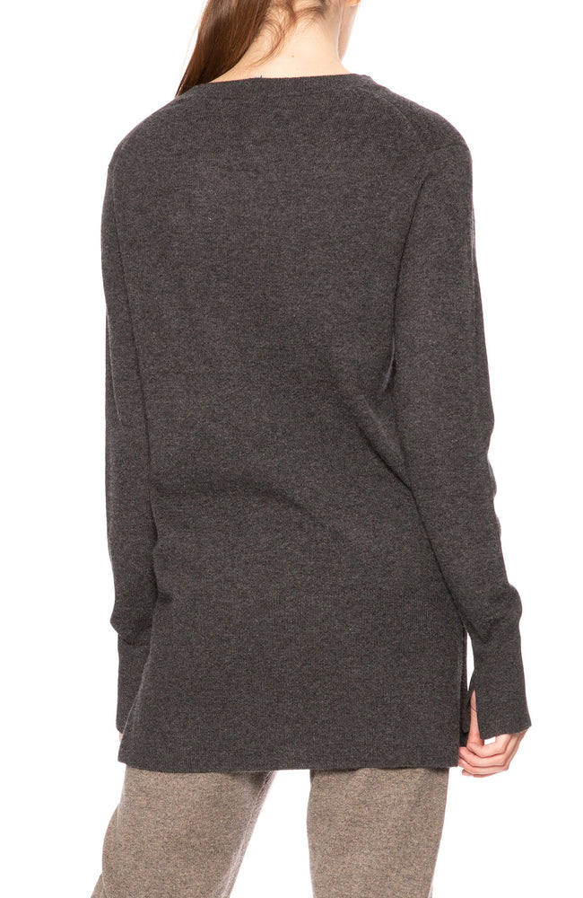 Soyer Taylor Cashmere Sweater in Charcoal at Ron Herman