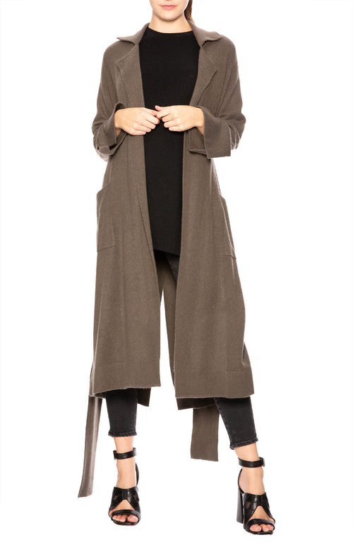 Soyer Lauren Cashmere Belted Trench Coat in Umber at Ron Herman
