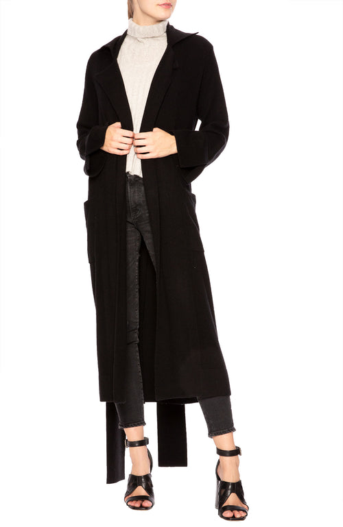 Soyer Lauren Cashmere Belted Trench Coat in Black at Ron Herman