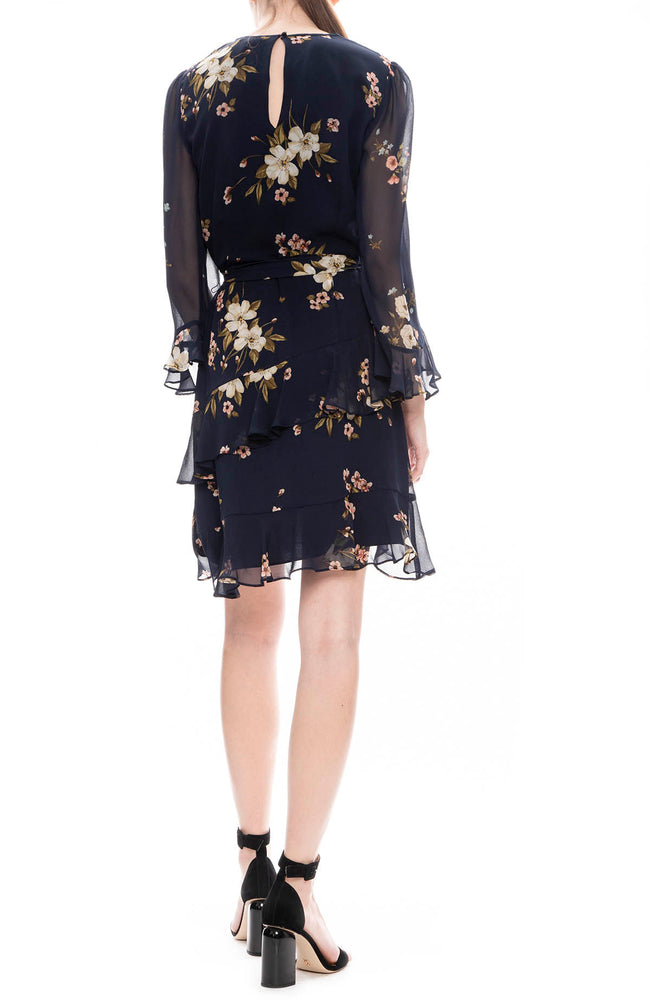 Joie Kayane Silk Floral Dress in Midnight