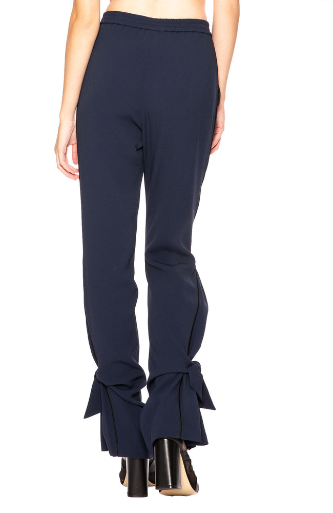 Jonathan Simkhai Combo Tie Pant in Midnight / Black at Ron Herman
