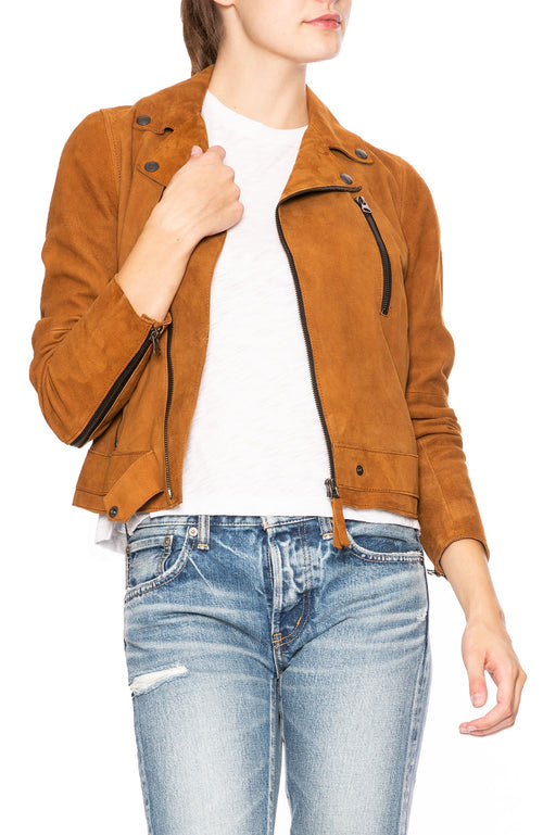 Lot 78 Phoebe Suede Jacket in Toffee at Ron Herman