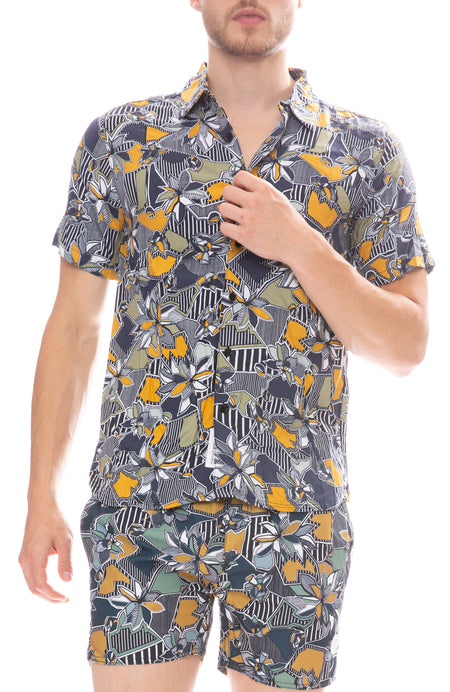 Geographic Floral Shirt
