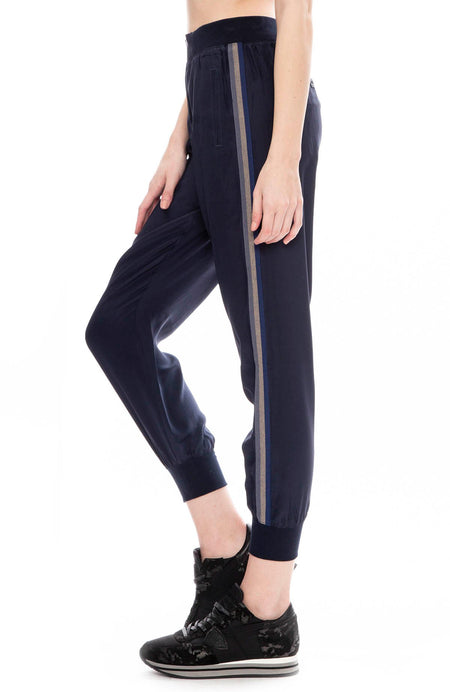 Silk Pull On Side Stripe Track Pants