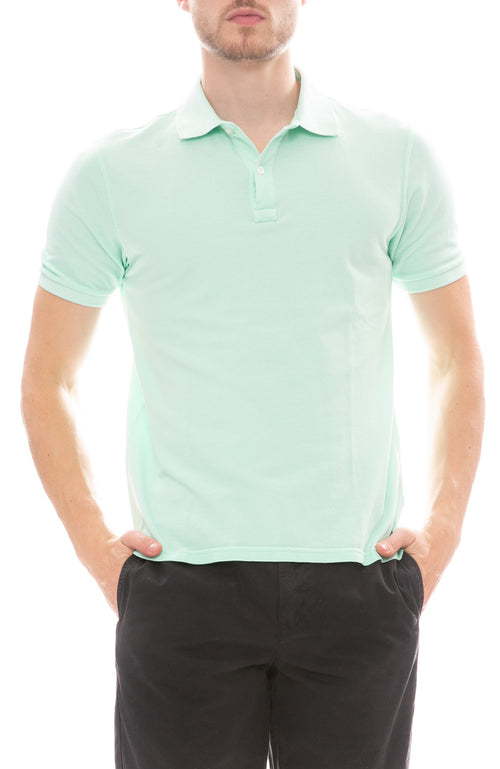 04651/ Pique Polo Shirt in Light Green