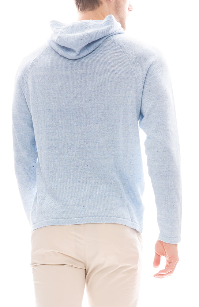 Hooded Linen Blend Sweater